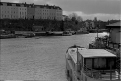 Bristol Docks (knjy) Tags: winter negativescan fujiacros bristoldocks 50mmnikon 2bathdeveloper nikonf2s