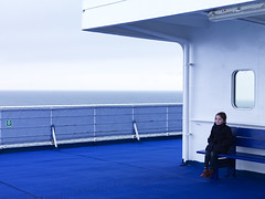 Approaching England (David Crausby) Tags: sea 6 girl ferry boat ship danish six portrat dfds msprincessseaways