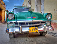 56 Chevy Trinidad Cuba (Rodrick Dale) Tags: car cuba chevy trinidad hdr 56