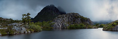Twisted Lake (Bruce_Hood) Tags: longexposure travel mist mountain lake tree nature water rock nationalpark nikon walk pano altitude australia panoramic hike tasmania worldheritage d800 cradlemountain brucehood d800e