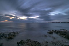 Regional peace (n.pantazis) Tags: longexposure light sea night clouds lights evening coast twilight nightshot cloudy dusk streetlamps wideangle saronicgulf saronikos 120sec pentaxk30
