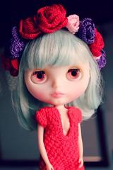 . (PETRONIALOCUTA) Tags: red lana dress rice crochet sally cotton egyptian miss darcy msr headband algodn