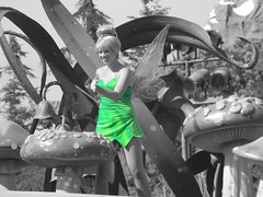 Tinkerbell (Magical Memories by Maddy) Tags: blackandwhite green dress vibrant edited peterpan create fairies edit splashofcolor splashesofcolor touchofcolor disneyparade blackandwhitecolor disneylandparade disneyfairies disneytinkerbell creativeartphotography disneyfacecharacters peterpandisneyland disneylandtinkerbell disneylandfairies soundsationalparade peterpantinkerbell disneylandpeterpan tinkerbelldisneyland uploaded:by=flickrmobile flickriosapp:filter=nofilter