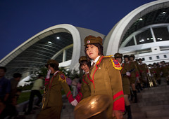 Musicians Before The Arirang Mass Games At May Day Stadium, Pyongyang,