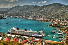 High Above St. Thomas (USVI) (NYRBlue94) Tags: ocean cruise sea vacation st bar clouds point islands paradise ship thomas united hill lounge tram disney line atlantic virgin fantasy sail caribbean states usvi the4elements blinkagain