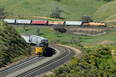 Allard Horseshoe Curve (Mathieu Tremblay) Tags: california santa green up burlington spring unitedstates pacific union pass vert mojave fe curve northern printemps keene tehachapi bnsf allard subdivision horsehoe