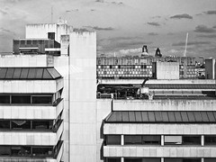 From King's College London (Gary Kinsman) Tags: 2005 bw london tower skyline architecture skyscraper blackwhite cityscape view cathedral stpauls modernism aldwych highrise layers gherkin 30stmaryaxe tower42 offices modernist cityoflondon kingscollegelondon kcl thestrandcampus 180strand thestrandbuilding