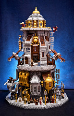 SKYHOLM- the flying city (Fianat) Tags: city sky usa brick hat america vintage gold to