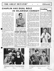 Page 3 d'un dossier de presse anglais (Charlie Chaplin: du muet au parlant) Tags: en film 1940 archive dictateur cinma charliechaplin bfi comedie hynkel thegreatdictator paulettegoddard pressbook dossierdepresse filmparlant