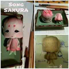 Song SAKURA - Fëa Loth (chartar_69) Tags: ooak ccc designertoys charlesstephan balinesewoodcarving charlescreaturecabinet fëa fëaloth cherryblossomfaerie woodendesignertoys