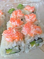 I love sushi  (Marina BW) Tags: food st sushi japanese yummy salmon scallops delicious rolls jaques dieting tartare cleaneating uploaded:by=flickrmobile flickriosapp:filter=nofilter marinabwfs