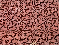 Carved stone at Quwwat-ul-Islam Mosque (magellano) Tags: red india stone architecture carved sandstone delhi mosque pietra architettura qutub minar engraved islamic alai qutb qutab arenaria rossa islamica darwaza quwwatulislam scolpita