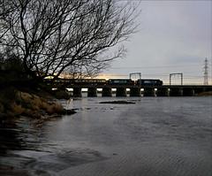 Crossing the Esk (Kingmoor Klickr) Tags: gretna charter metalbridge drs riveresk 37409 37607 directrailservices floriston easterhighlander gordonedgar