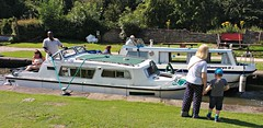 STENSON LOCK WAS VERY BUSY THIS MORNING! (hazelisles,(www.youtube.com/user/hazelisles)) Tags: canal lock cruisers picmonkey