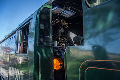 Harmans Cross Station 09 (Matt_Rayner) Tags: swanage railway fire box 34070 manston sr battle of britain class steam train