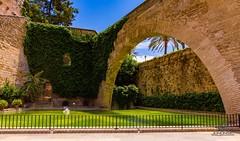 S' Hort del Rei, Palma de Mallorca. (Jononse) Tags: stone piedra shortdelrei palmademallorca balearicislands islasbaleares historic wall arc arquitectura arquitecture