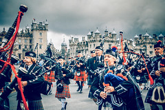 Pipers Way (TheWildFireOne) Tags: band floors castle pipers drummers kilt scotland scottish march pipe 500px