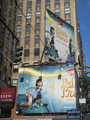 The Little Prince Billboard 7th Ave NYC 3312 (Brechtbug) Tags: the little prince billboard 7th ave 35th street nyc stop motion computer animation french childrens book philosophy philosophical puppets puppetry netflix children fantasy space planets planes aviation worlds small kids animals animal story 08122016 new york city streets avenues st