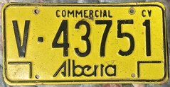 ALBERTA 1975-84 ---COMMERCIAL VEHICLE PLATE, DIFFERENT NUMBERING FORMAT (woody1778a) Tags: alberta commercialvehicle licenseplate numberplate mycollection myhobby canada 1975 cv