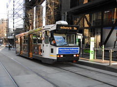 A232 on Route 96a (damos photos) Tags: a232 aclass route96a bourkest melbournetrams 2016