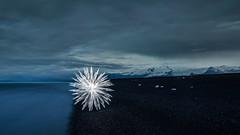 ice crystal (ZOLAQ) Tags: iceland olympus omd island travel light lightpainting lightart lightatphotography lichtmalerei licht schwarzmeis blcke strand beach ocean
