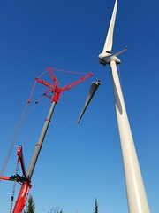 Wind Turbine In Progress (Uncle Catherine) Tags: amsterdam vacation nl netherlands travel europe turbine windturbine infrastructure