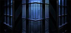 Glass Windows (M.G.N. - Marcel) Tags: picmonkey ventanales cristaleras lineas angulos luces azul