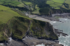 Pencannow Point next to Crackington Haven in north Cornwall - aerial image (John D F) Tags: pencannowpoint crackingtonhaven bay cove coast coastline beach aerial aerialphotography aerialimage aerialphotograph aerialimagesuk aerialview
