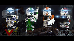 Republic Commando - Delta Squad (AndrewVxtc) Tags: lego star wars custom clone commando delta squad republic rc1262 rc1138 rc1140 rc1207 clonearmycustoms andrewvxtc bos boss scorch fixer sev