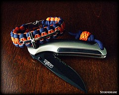 Paracord bracelet with cross charm and Gerber AR with fob (Stormdrane) Tags: birthday ma paracord bracelet crosscharm whitestitching 09mmstring stormdrane metalsidereleasebuckle gerberar folder pocketknife comboedge blackblade neonreflectiveorangeguyline string cord knot gaucho twostrandstopperknot navyblue neon orange stitched white 09mm hobby craft diy make howto tie braid weave hiking campingbackpacking fishing boating sailing work play school beprepared scouting military losspreventionsurvival geocache bushcraft repurpose untie edc everydaycarry