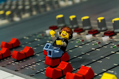 Music is what feelings sound like (Ballou34) Tags: 2016 650d afol ballou34 canon eos eos650d flickr lego legographer legography minifigures photography rebelt4i stuckinplastic t4i toy toyphotography toys rebel stuck plastic slider slide music sound mixing