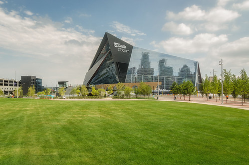 U.S. Bank Stadium and the Commons Park