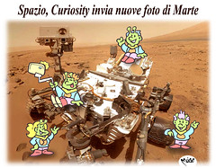 Un Selfie su Marte (Moise-Creativo Galattico) Tags: editoriali moise moiseditoriali editorialiafumetti giornalismo attualit satira vignette marte curiosity