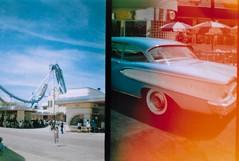 Universal Studios, Osaka (BeefySquarms) Tags: dianamini 35mm filmphotography lomography rollercoaster attractions backtothefuture filmsets vintagecar universalstudios universalstudiosjapan universalstudiososaka osaka japan