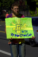 Pokemon Go (swong95765) Tags: pokemon go parade sign guy man game augmentedreality