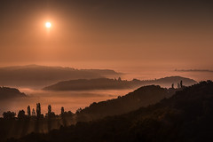 Early morning over the sea of clouds (Peter Heitzinger) Tags: austria sonnenaufgang sunrise landscapes landschaft langzeitbelichtung kitzeck