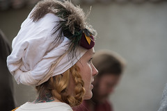 Woman Medieval Festival Gotland (stenaake) Tags: woman girl lady dressedup medieval festival week portrait gotland sweden visby face neck nosering