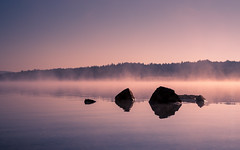 lake, rocks, fog & sunrise (Florian Grundstein) Tags: sky lake water mirror reflections morning early fog mistiy landscape seascape widescreen wallpaper rocks stones rough trees nature hike hiking upperpalatinate bavaria germany oberpfalz heimat daheim unusual see himmel nebel morgens sonnenaufgang sunrise sunset light nikon fx d610 nikkor