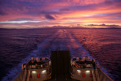 The best sunset I've seen in ages (Benvironment's Photos) Tags: sunset sea sun weather ferry island scotland calmac bute