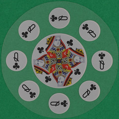 Celebrity Cruises Round Playing Card Queen of Clubs