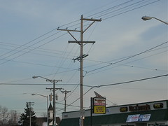 Jumbled power lines [Explored] (NDLineGeek) Tags: