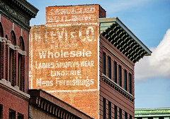 LINGERIE (FotoEdge) Tags: old winter usa sun classic painting midwest peeling downtown shadows view unitedstates sony ghost memories rusty roadtrip landmark retro kansascity faded heartland forgotten missouri western weathered glowing prairie fading kc roadside ghostly crusty relics timeless vastness parkville ghostsigns molded 2013 milliondollarview fotoedge bobtravaglione nex6 sonynex6 alphanex6