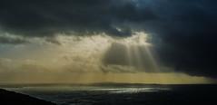 Rays (intrazome) Tags: ocean light sea sky cloud sun sunlight nature beautiful weather clouds landscape coast nikon ray cliffs coastline rays sunray d5100