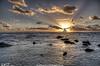 Sea and sky (stubeee) Tags: sea sun clouds spain rocks sunbeam vftw nikond300 stubeee stuartturnerphotography
