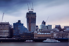 Billingsgate Market (EricP2x) Tags: city uk greatbritain panorama london church architecture skyscraper buildings photography dock construction europe skyscrapers market unitedkingdom capital towers churches officebuildings cranes explore wharf citylights londres canon5d cbd underconstruction canondslr fish