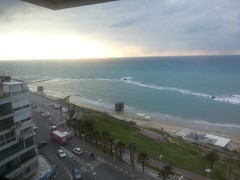 View from balcony, Maison Lisbona, Bat Yam (2) (dlisbona) Tags: sea vacation holiday vacances israel telaviv view apartment flat rental location appartement luxury seaview batyam louer apartement sejour