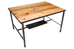 "Pine Top Coffee Table with Steel Shelf • <a style=""font-size:0.8em;"" href=""http://www.flickr.com/photos/80301931@N08/8466295885/"" target=""_blank"">View on Flickr</a>"