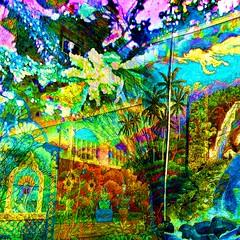 Wonky Paradise (brillianthues) Tags: city flowers art collage digital photography colorful vivid awardtree vividimagionation photmanuplation