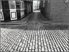 Cobbled Streets in Hull .. (** Janets Photos **) Tags: uk eastyorkshire hullstreets roads buildings georgian cobbles blackwhite monocrome dreamlikephotos mindigtopponalwaysontop lovelyflickr takenwithlove goldenachievement thegoldenachievement blinkagain theinspirationgroup