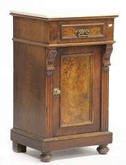 56. Unusual Marble Top Victorian Night Stand